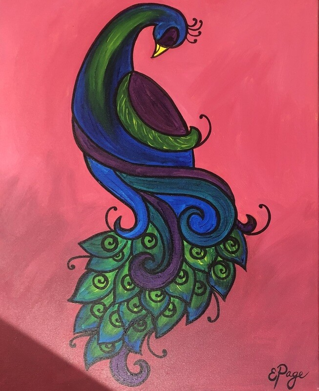 Kit de Pintura: Peacock (Canvas Grande 16x20)