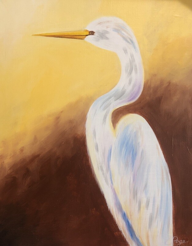 Kit de Pintura: Stork (Canvas Grande 16x20)
