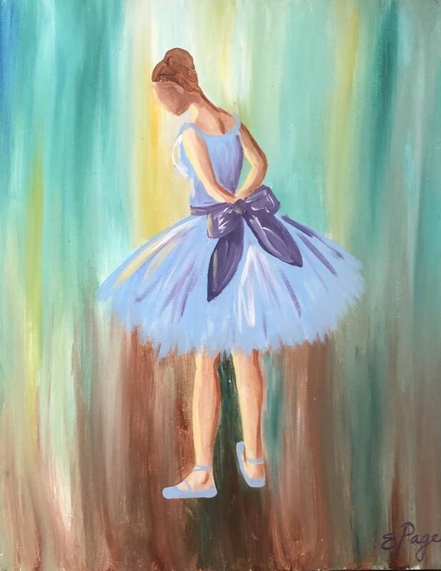 Kit de Pintura: Balerina (Canvas Grande 16x20)