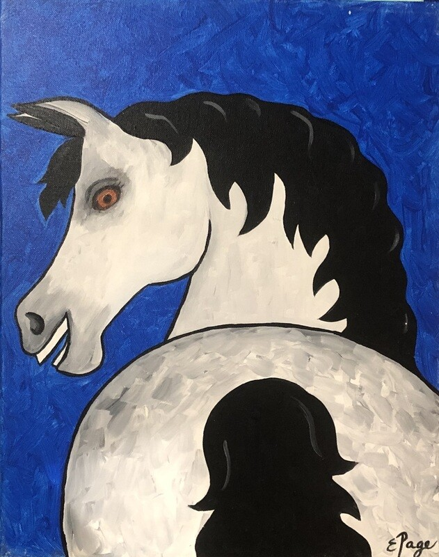 Kit de Pintura: White Stallion (Canvas Grande 16x20)