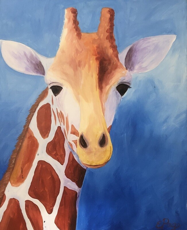 Kit de Pintura: Giraffe (Canvas Grande 16x20)