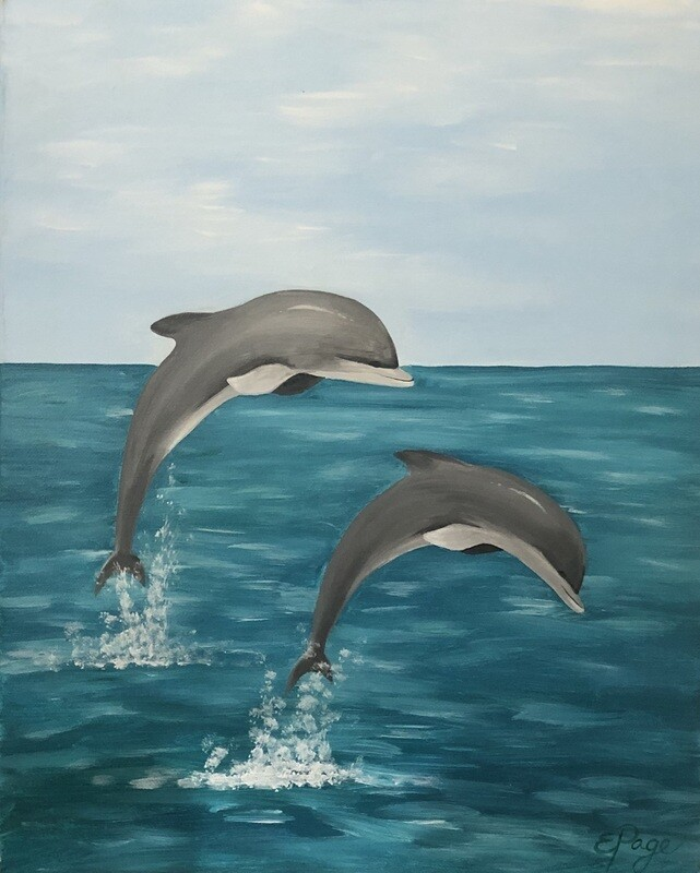 Kit de Pintura: Dolphins (Canvas Grande 16x20)