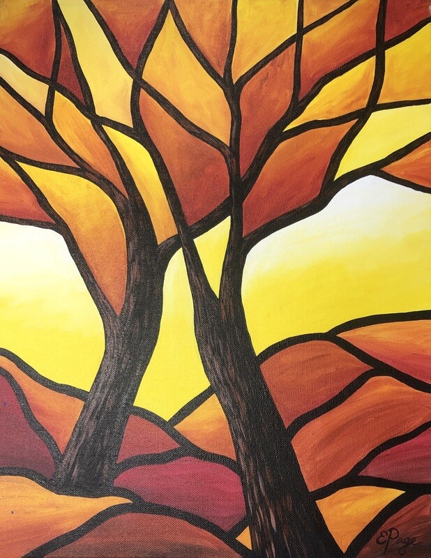 Kit de Pintura: Autum Tree (Canvas Grande 16x20)