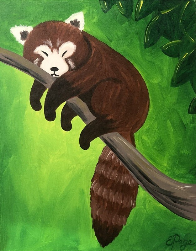 Kit de Pintura: Red Panda (Canvas Grande 16x20)