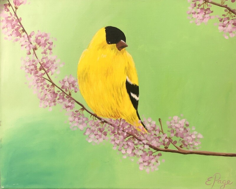 Kit de Pintura: Goldfinch (Canvas Grande 16x20)