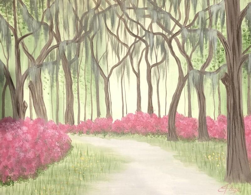 Kit de Pintura: Blossoming Path (Canvas Grande 16x20)