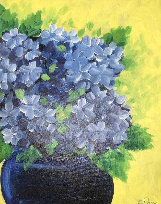 Kit de Pintura: Hydrangea (Canvas Grande 16x20)