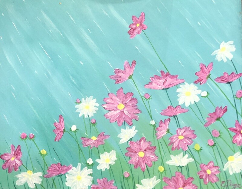Kit de Pintura: April Showers (Canvas Grande 16x20)