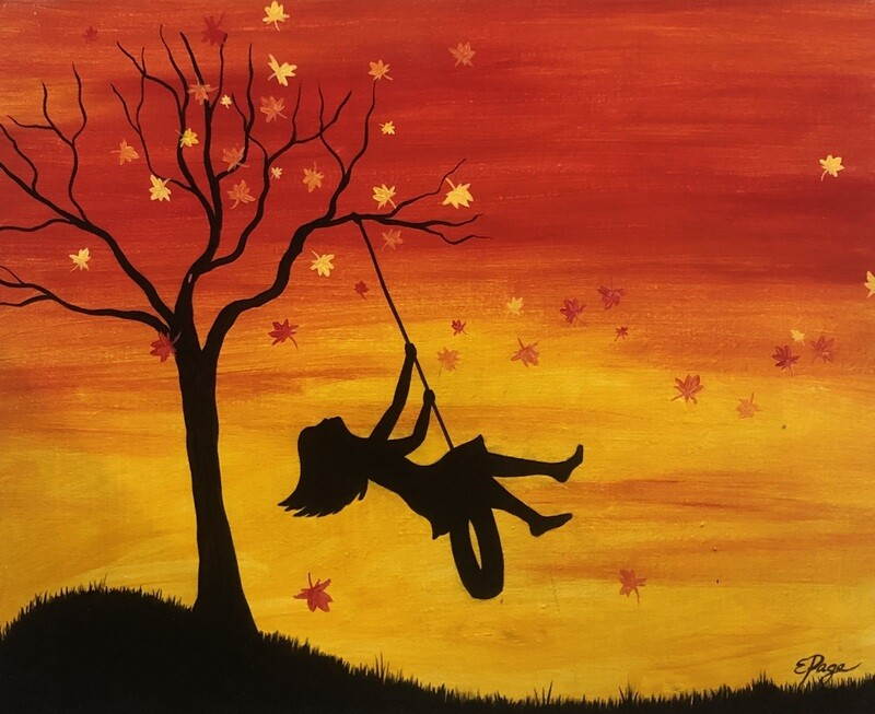 Kit de Pintura: Fall Back (Canvas Grande 16x20)