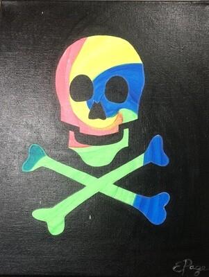 Kit de Pintura: Cross Bones (Canvas Mediano 12x16)