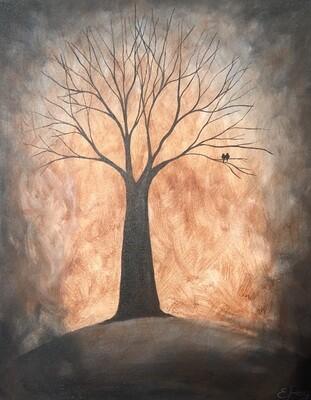 Kit de Pintura: Fall Tree (Canvas Mediano 12x16)
