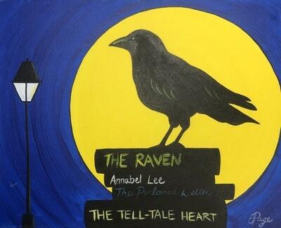 Kit de Pintura: Crow signs (Canvas Mediano 12x16)