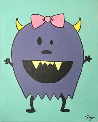 Kit de Pintura: Purple Monster (Canvas Mediano 12x16)