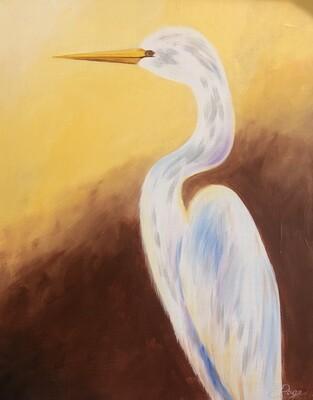 Kit de Pintura: Stork (Canvas Mediano 12x16)