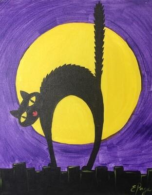 Kit de Pintura: Scaredy Cat (Canvas Mediano 12x16)