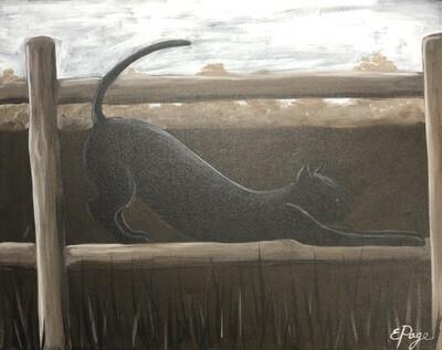 Kit de Pintura: Black Cat (Canvas Mediano 12x16)