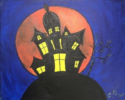 Kit de Pintura: Spooky House (Canvas Mediano 12x16)