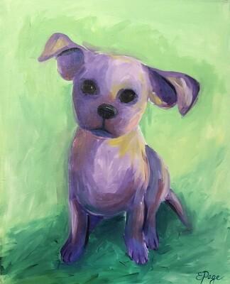 Kit de Pintura: Violet (Canvas Mediano 12x16)
