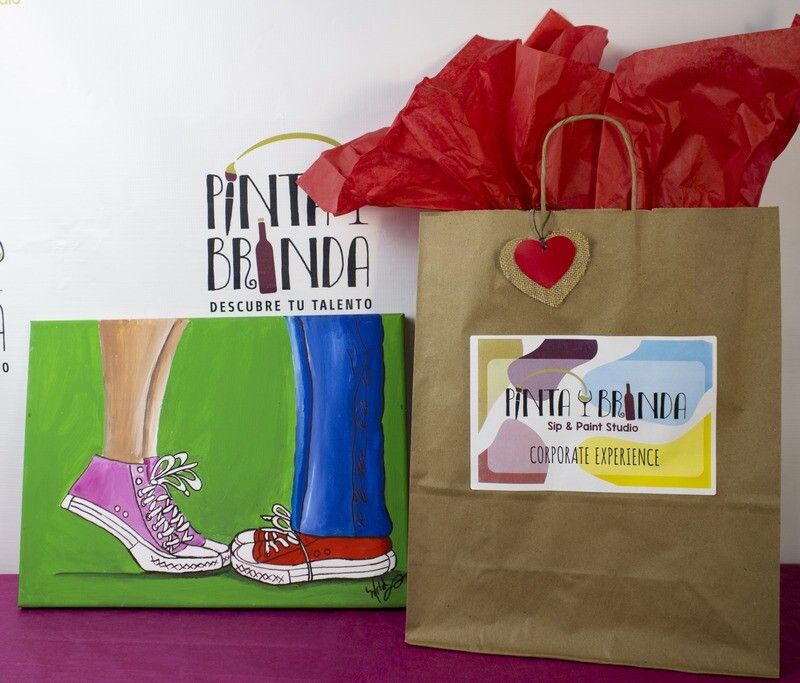 Valentine's Kit de Pintura: Shoes (Canvas Mediano 12x16)