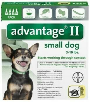 ADVANTAGE II DOG 0-10LB