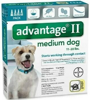 ADVANTAGE II DOG 11-20LB