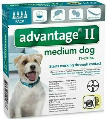 ADVANTAGE II DOG 21-55LB