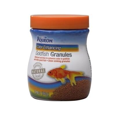 Aqueon Goldfish Color Enhancing Granules Fish Food 3oz Jar