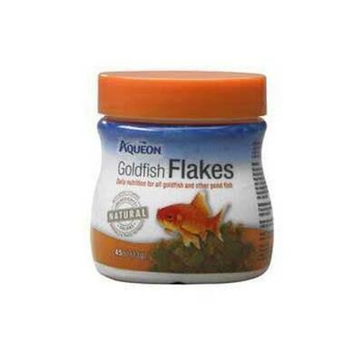 Aqueon Goldfish Flakes Fish Food .45oz Jar