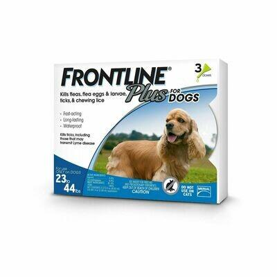 FRONTLINE PLUS 3/PK 23-44 lbs