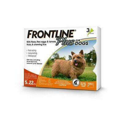 FRONTLINE PLUS 3/PK 5-22 lbs