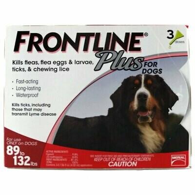FRONTLINE PLUS 3/PK 89 up lbs