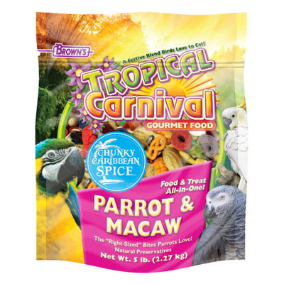 BROWNS TROPICAL CARNIVAL PARROT/MACAW