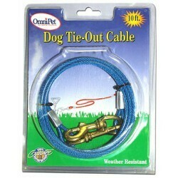 ATLAS COATED TIE OUT CABLE 20 FT LARGE DOG