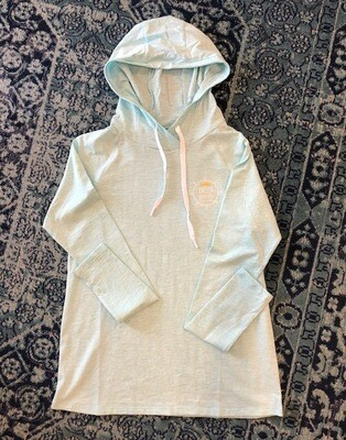 Women's Helm Hoodie Light Aqua UPF 50