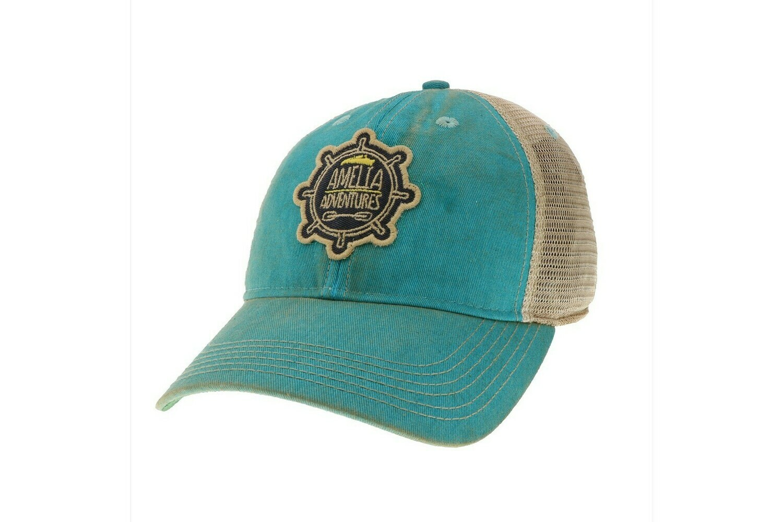 Old Favorite Youth Trucker Hat Aqua Blue