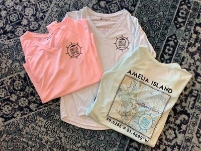Women's Amelia Island Lat/Long UPF 50 Solar Shirt