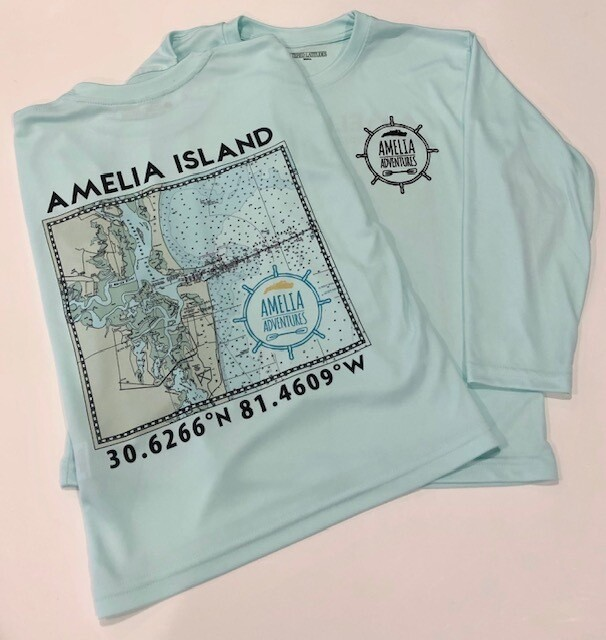 Youth Amelia Island Lat/Long UPF 50 Solar Shirt