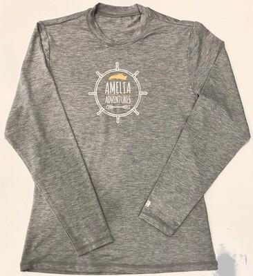 Malibu UPF 50 Solar Shirt Large Logo Grey