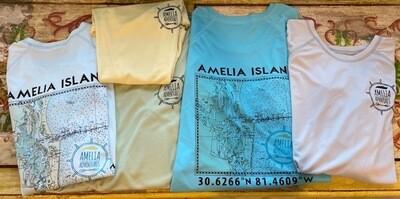 Women's Amelia Island Lat/Long UPF 50 Tech Performance Shirt