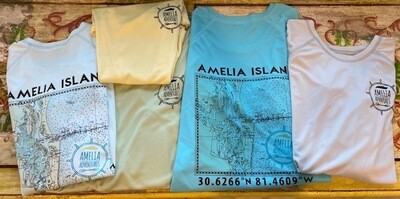 Unisex Amelia Island Lat/Long UPF 50 Shirt