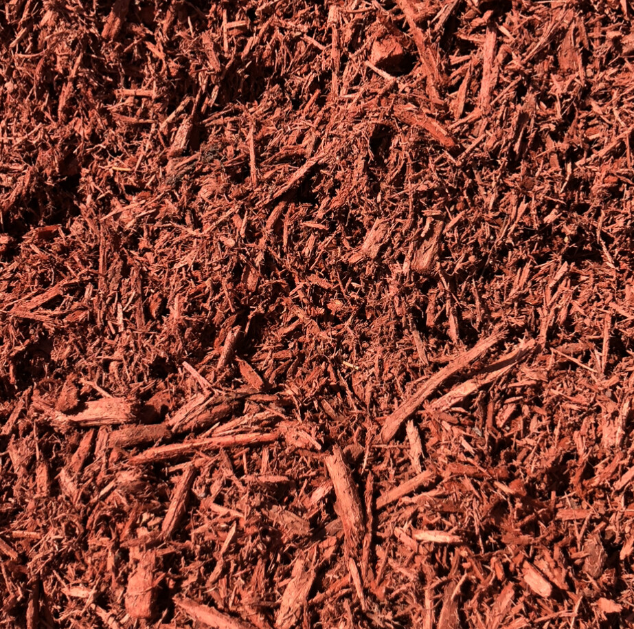 Red Dyed Bark Mulch - Bagged