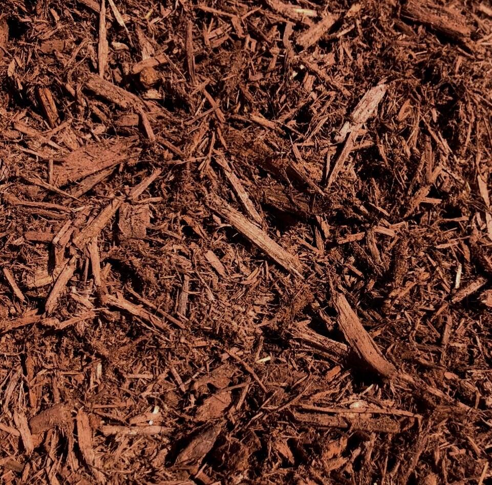 Cinnamon Dyed Bark Mulch