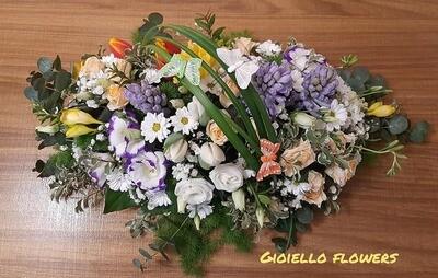 centrotavola fiori misti 40/50 cm