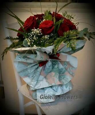 bouquet di 9 rose