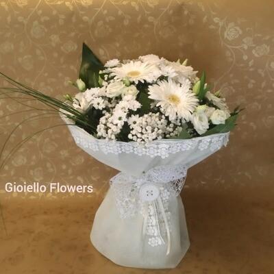 Bouquet fiori misti bianco