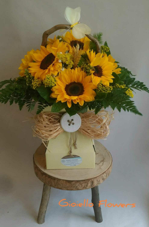 Bouquet di girasoli in Floralbox