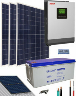 Kit solar, para casa familiar con un consumo de Nevera, tv, ventilador. (2700 watt)