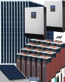 Kit Solar Vivienda Permanente 30000Wh dia