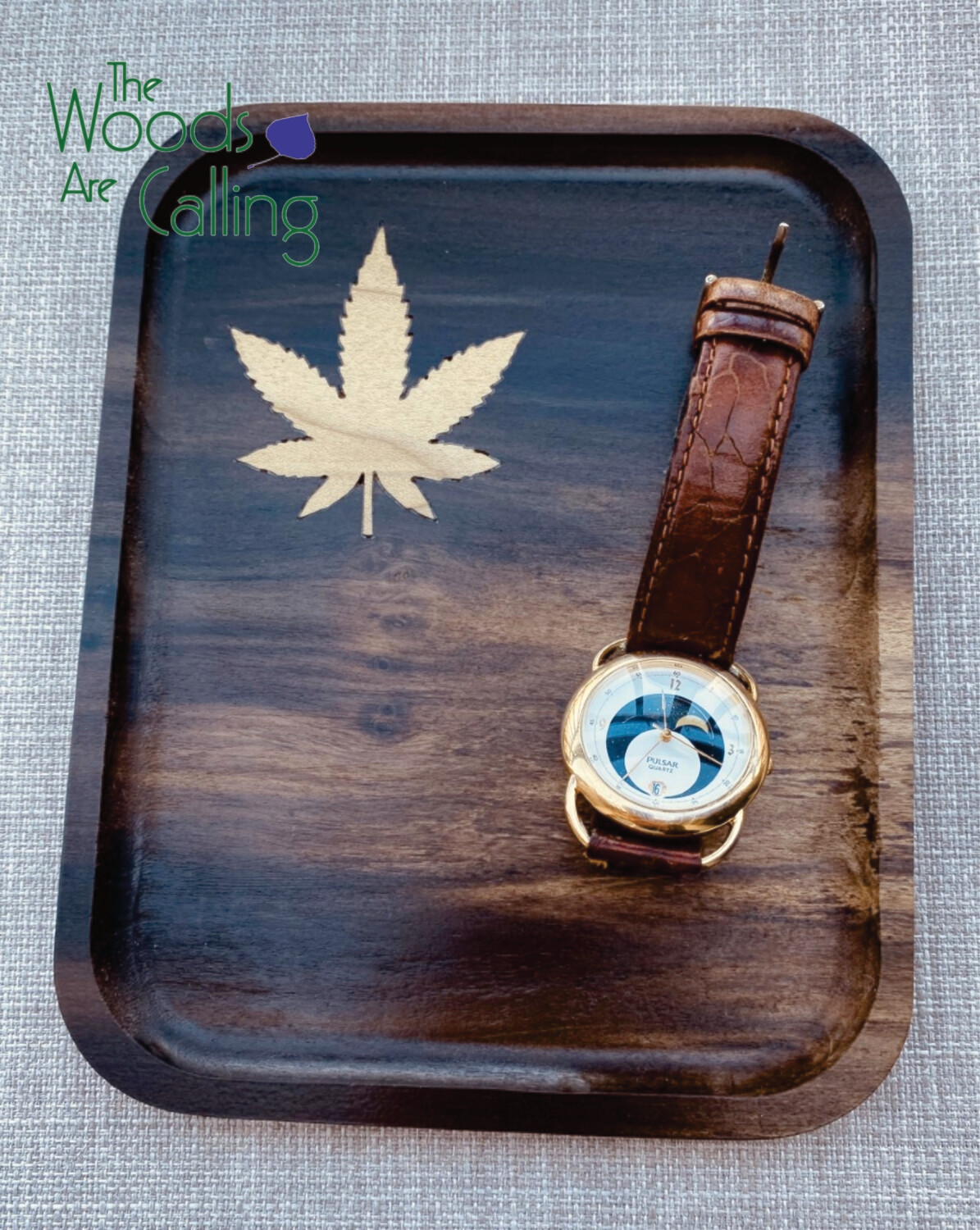 Pot leaf in-lay