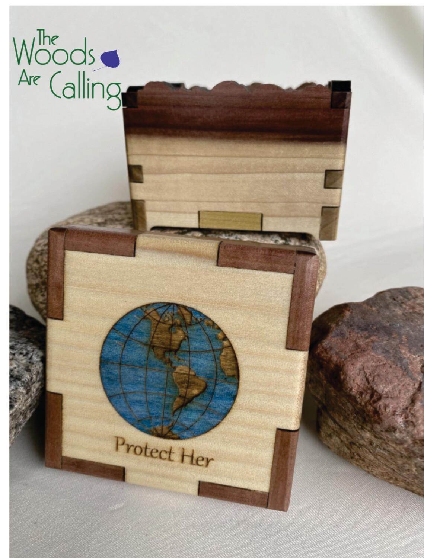 Floating Globe Inlay Box